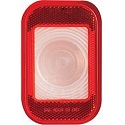 "5-5/16"" x 3-7/16"" Rectangular Back-Up Light with Built-In Red Reflex and Standard 2-Pin Connection, Recessed Grommet Mount"