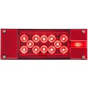 "8-1/16"" x 2-7/8"" LED Red Combi"