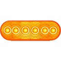 "6"" LED Amber Oval Parking/Rear"