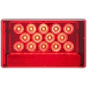 "6-1/16"" x 3-5/8"" LED Red Combination Tail Light with Universal Stud Mount, Low Profile, Driver Side"