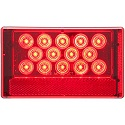 "6-1/16"" x 3-5/8"" LED Red Combination Tail Light with Universal Stud Mount, Low Profile, Passenger Side"