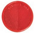 "2-3/16"" Red Round Self-Adhesive Reflector"