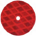 "3-1/4"" Red Round Reflector with 3/16"" Mounting Hole"