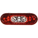 "6"" LED Combination Oval Stop/Tail/Turn/Back-Up Light with Male Pin"