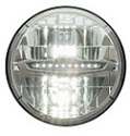 Clear LED Round Sealed Beam Auto Headlight, High/Low Beam