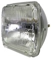 Clear Halogen Rectangular Sealed Beam Auto Headlight, High/Low Beam