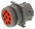 HD10 Receptacle Square Flange