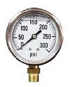"2-1/2"" Liquid Filled Gauge with 1/4"" Brass Connection, 0-300 PSI"