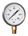 "2-1/2"" Liquid Filled Gauge with 1/4"" Brass Connection, 0-600 PSI"