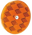 "3-3/16"" Amber Round Reflector with 3/16"" Center Mounting Hole"