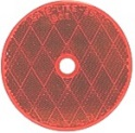"3-3/16"" Red Round Reflector with 3/16"" Center Mounting Hole"
