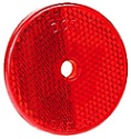 "2-3/8"" Red Round Reflector with 1/4"" Center Mounting Hole"