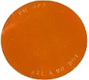 "2-7/8"" Amber Round Self-Adhesive Reflector with Pressure Sensitive Backing"