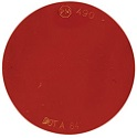 "2-7/8"" Red Round Self-Adhesive Reflector with Pressure Sensitive Backing"