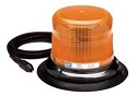 Amber Strobe Beacon Light with Vacuum Magnet Mount