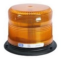 Amber Heavy Duty Pulse II Beacon Light with Pipe Mount, SAE Class II